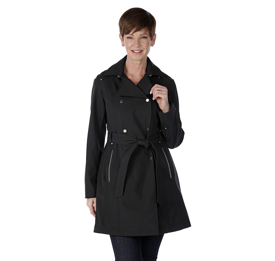 Image 523273_BLK.jpg , Product 523-273 / Price $69.77 , Novelti Mesh Bonded Soft Shell Trench Style Coat from Novelti on TSC.ca's Fashion department