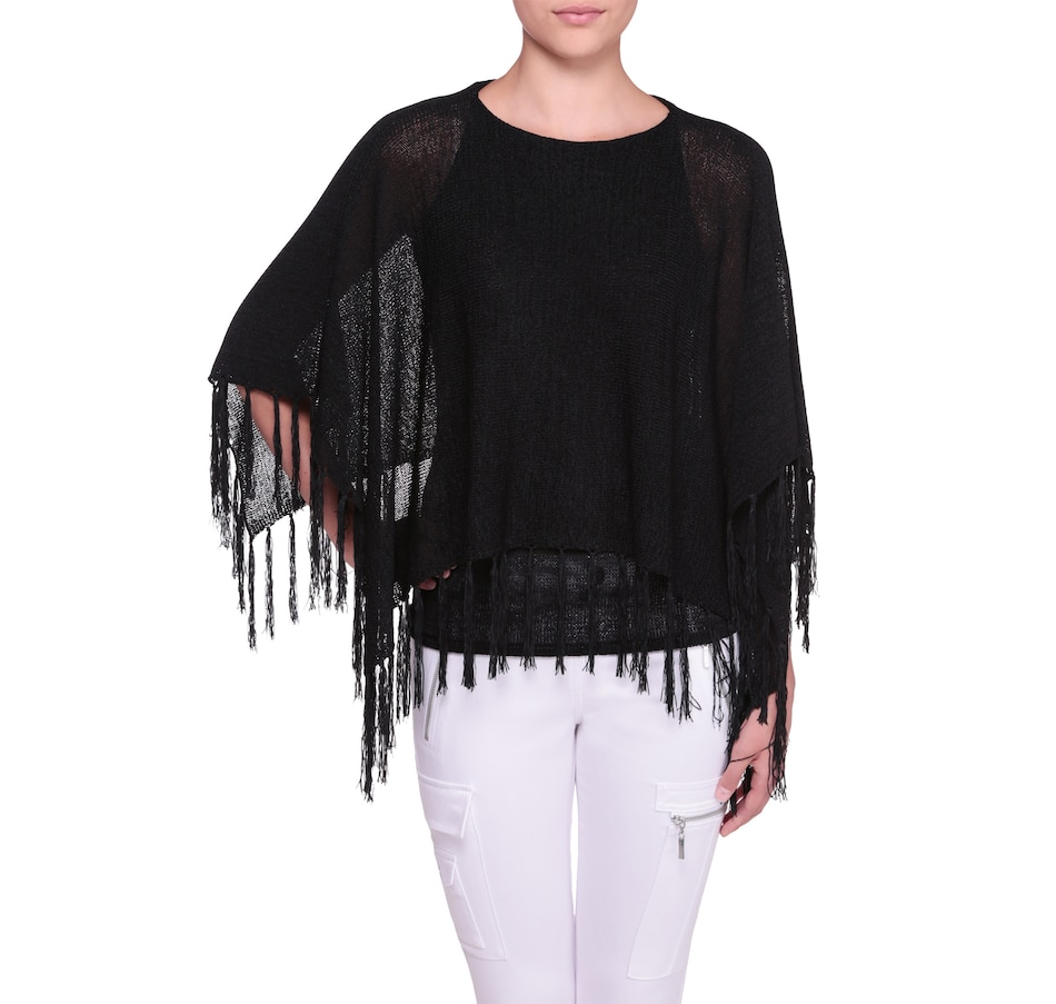 Image 523721_BLK.jpg , Product 523-721 / Price $35.77 , Nygard Fringed Easy Poncho from Nygard Fashions on TSC.ca's Fashion department