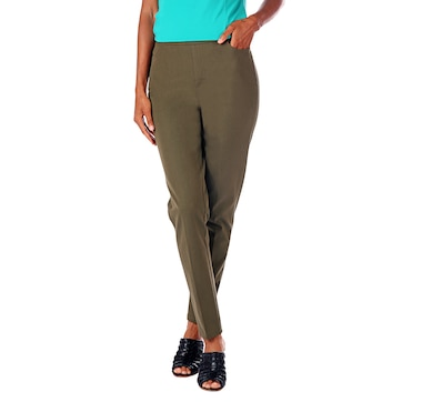 Isaac Mizrahi Live! 24/7 Stretch Full Length Slim Pull On Pant