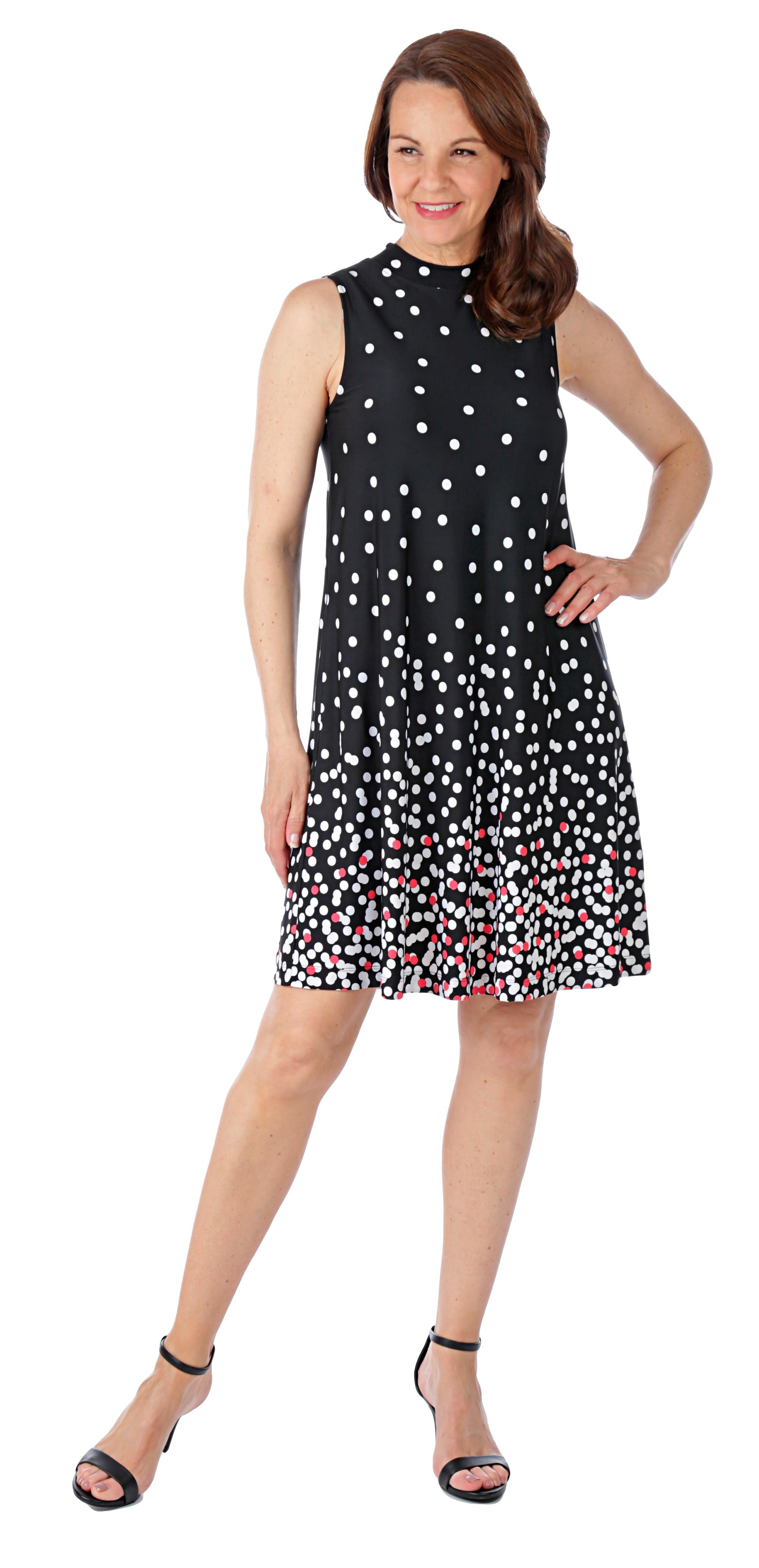 Tiana B. Printed A-Line Jersey Dress