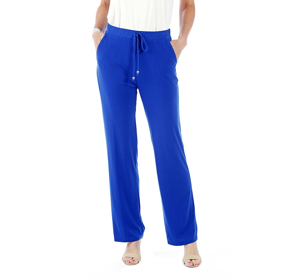 Image 525589_BLU.jpg , Product 525-589 / Price $19.33 , Artizan by Robin Barre Straight Leg Athleisure Pant with Pocket from ARTIZAN by Robin Barré Fashion on TSC.ca's Fashion department