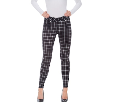 d5c7d2df6dabfa Product 526-025 / Price $54.99 , Nygard Print Luxe Ponte Plaid Legging with  Piping