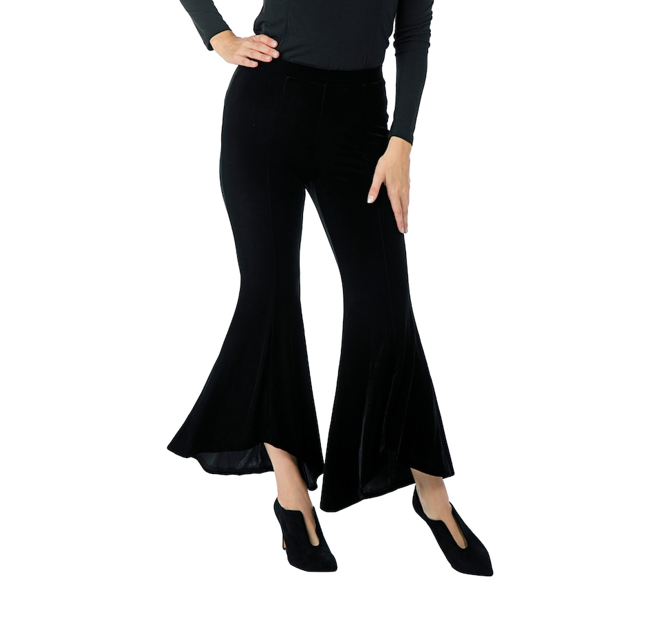 Image 526055_BLK.jpg , Product 526-055 / Price $25.33 , Guillaume Stretch Velvet Flared Pant from Guillaume Fashions on TSC.ca's Fashion department