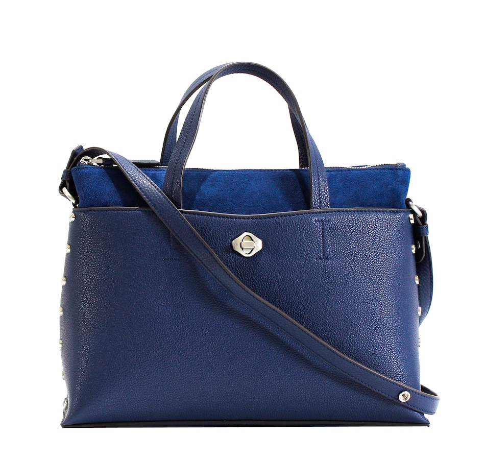 Image 526498_NVY.jpg , Product 526-498 / Price $349.00 , Aimee Kestenberg Mariah Triple Entry Satchel from Aimee Kestenberg on TSC.ca's Shoes & Handbags department