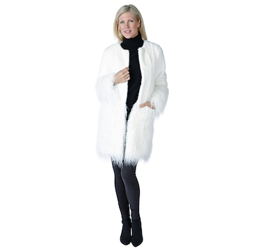Regal Faux Fur Gigi Long Hair Faux Mongolian Coat