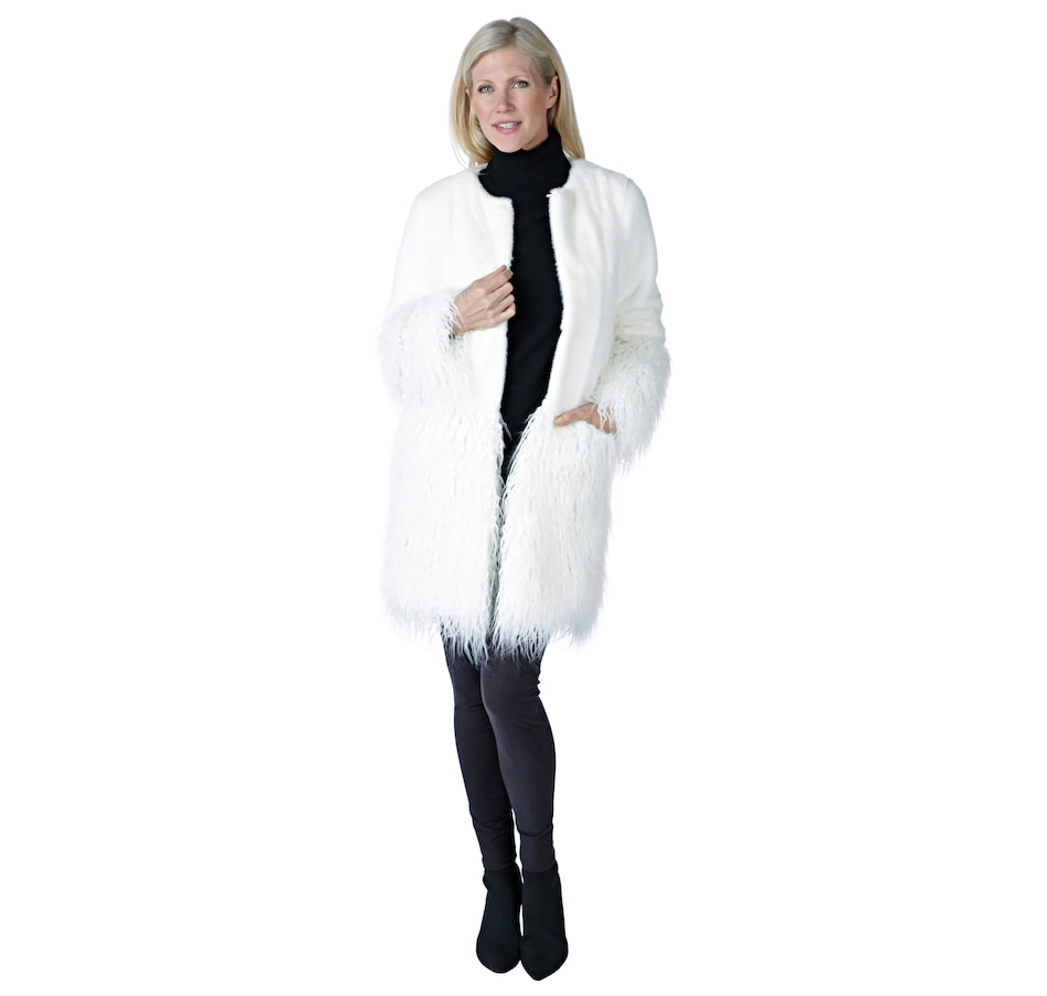 Image 526645_IVR.jpg , Product 526-645 / Price $160.88 , Regal Faux Fur Gigi Long Hair Faux Mongolian Coat from Regal Faux Furs on TSC.ca's Fashion department