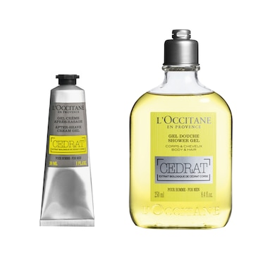 L'Occitane Cedrat Men's Shower & After-Shave Gel Duo