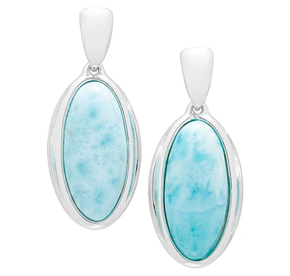 Image 527074.jpg , Product 527-074 / Price $79.88 , Blue Rhapsody Sterling Silver Larimar Simple Earrings from Blue Rhapsody on TSC.ca's Jewellery department