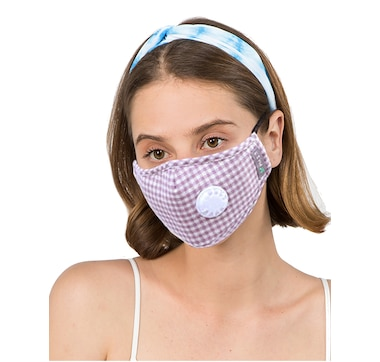 Only Accessories Gingham Mask with Filter