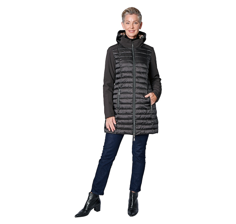 Image 527653_BLK.jpg , Product 527-653 / Price $109.88 , Nuage Ladies' Mixed Media Quilted Jacket from Nuage Outerwear - Alpha on TSC.ca's Fashion department