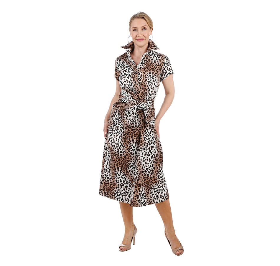 Image 528022_ANM.jpg , Product 528-022 / Price $225.00 , Brian Bailey Tie Front Shirt Dress from Brian Bailey on TSC.ca's Fashion department