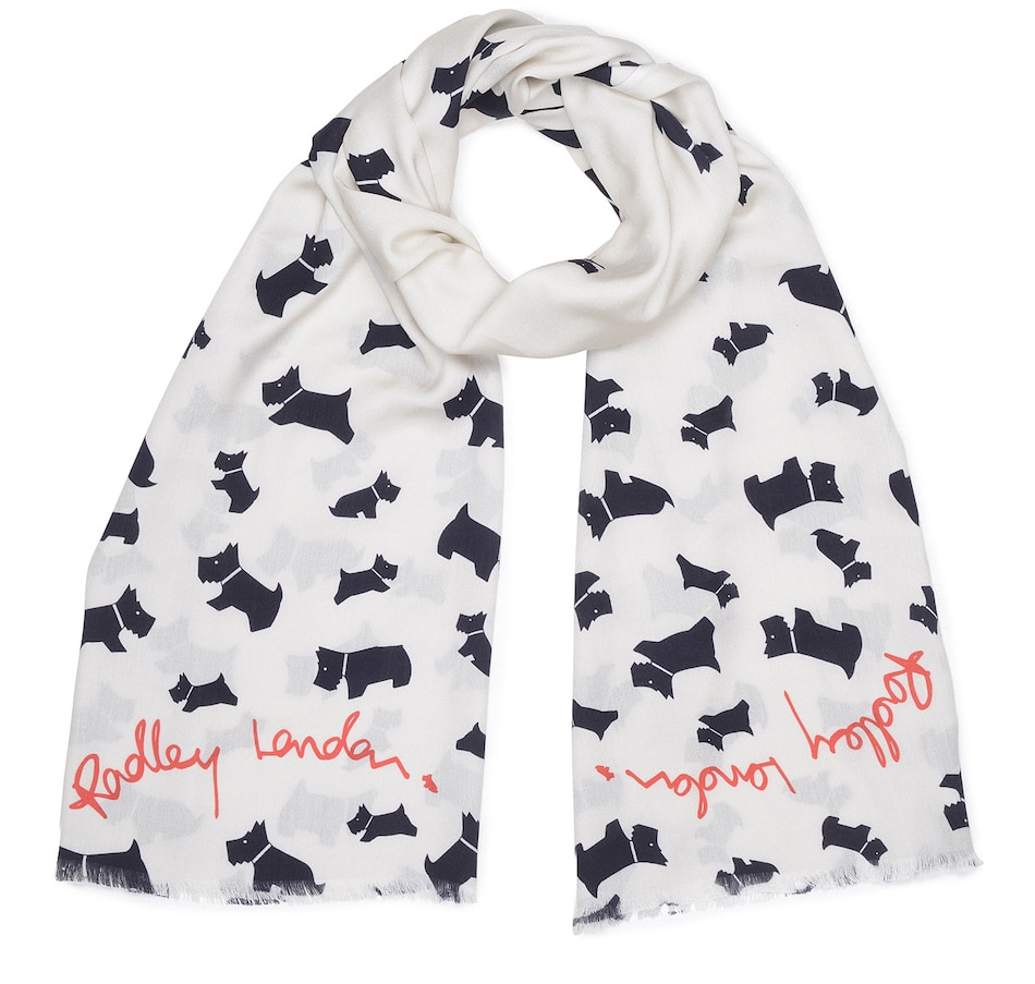 Image 528205_IVR.jpg , Product 528-205 / Price $79.99 , Radley London Scatter Dog Scarf from Radley London on TSC.ca's Fashion department