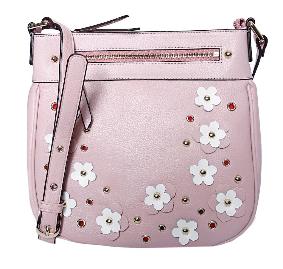 Image 528296_BUH.jpg , Product 528-296 / Price $99.99 , Sharif Handbags 3D Floral Crossbody from Sharif Handbags on TSC.ca's Shoes & Handbags department