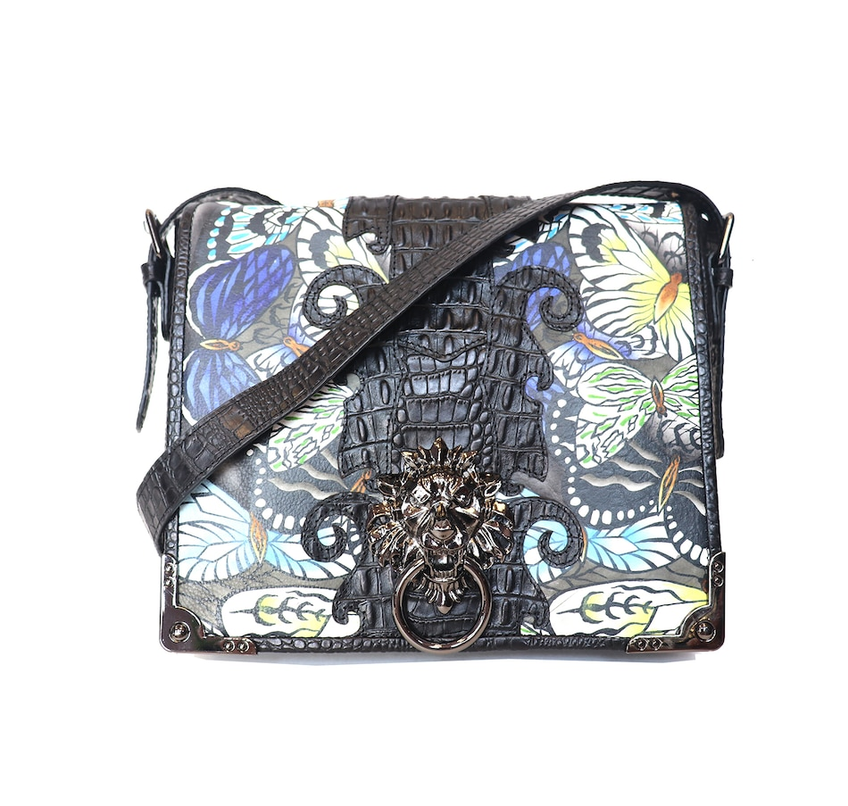 Image 528613_BF.jpg , Product 528-613 / Price $199.99 , Sharif Handbags Lions Head Flap Messenger Bag from Sharif Handbags on TSC.ca's Shoes & Handbags department