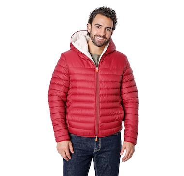 Save The Duck Men's Giga Faux Shearling Lined Puffer Jacket