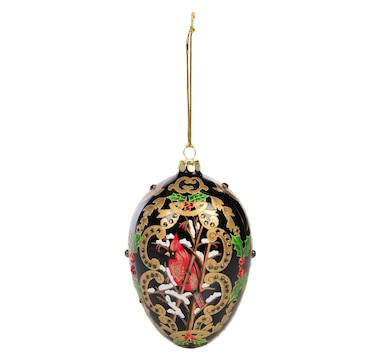 Joan Rivers 2016 Cardinal in the Snow Egg Ornament