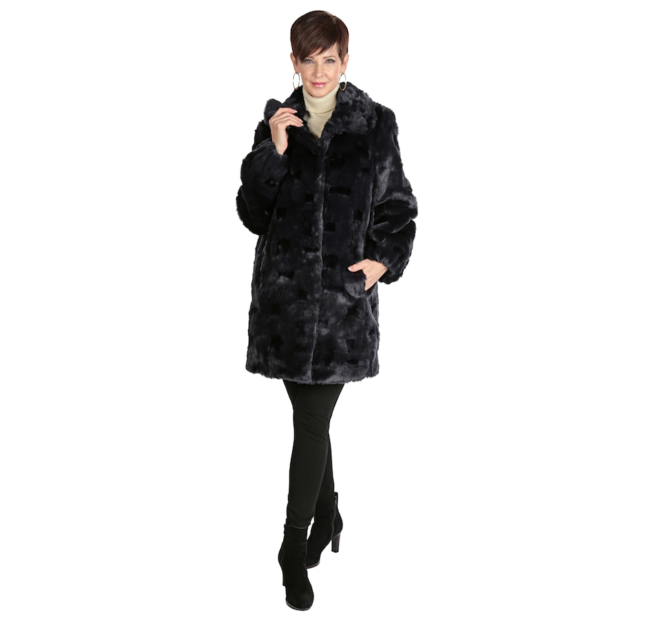 Image 537057_SEEL.jpg , Product 537-057 / Price $80.33 , Regal Faux Furs Faux Fur Coat with Shirred Cuffs from Regal Faux Furs on TSC.ca's Fashion department