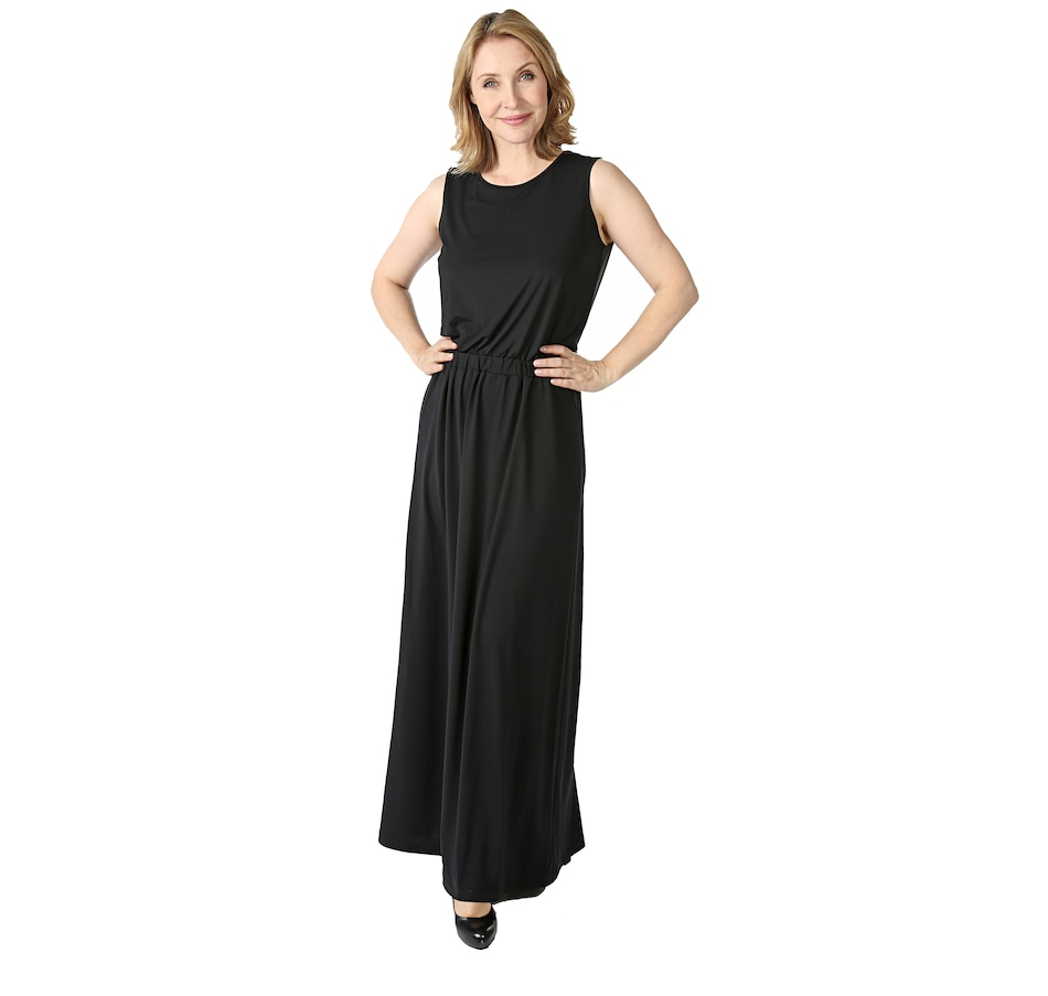 Buy Joan Rivers Jersey Knit Maxi Dress with Pockets - Fashion ...