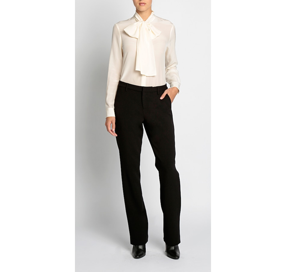 Image 537516_CRM.jpg , Product 537-516 / Price $295.00 , PINK TARTAN Silk Alex Tie Blouse from Pink Tartan on TSC.ca's Fashion department