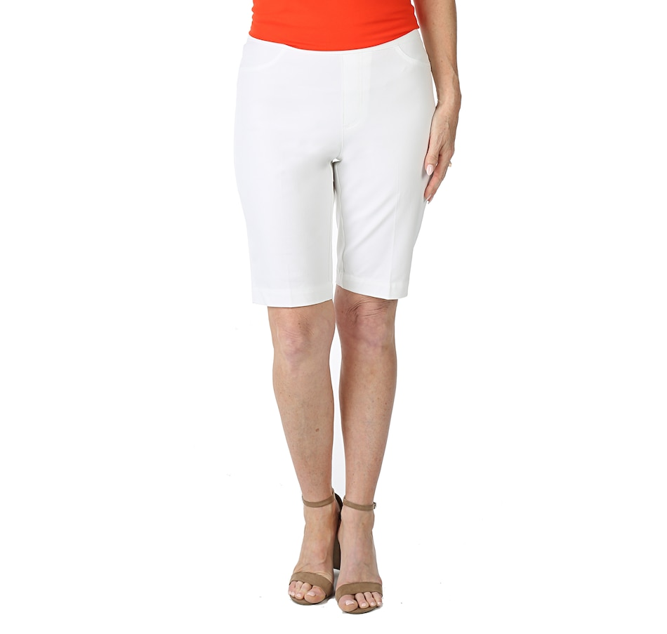 Image 538030_BRWHT.jpg , Product 538-030 / Price $19.33 , Isaac Mizrahi Live! Stretch Pull On Shorts from Isaac Mizrahi Fashion on TSC.ca's Fashion department