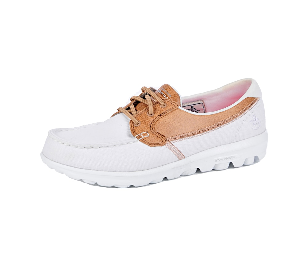 Image 538694_WHT.jpg , Product 538-694 / Price $34.33 , Skechers Go Walk Seaside Moc Toe Canvas Slip-On from Skechers on TSC.ca's Shoes & Handbags department