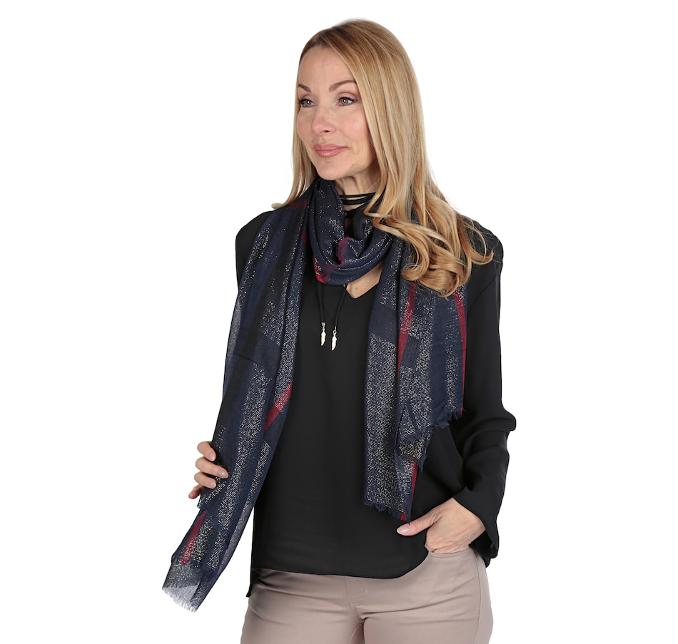 Image 538904_NVY.jpg , Product 538-904 / Price $14.77 , Artizan by Robin Barre Fashion Plaid Scarf from ARTIZAN by Robin Barré on TSC.ca's Fashion department