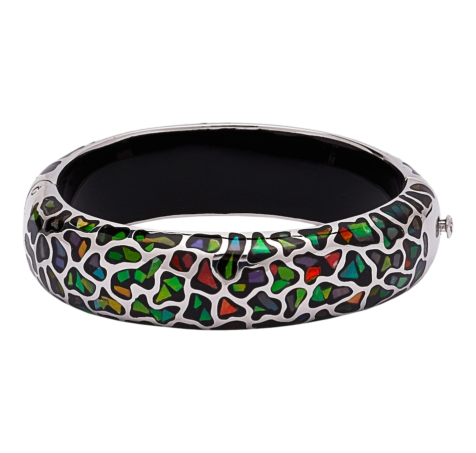 Image 543891_RHOP.jpg , Product 543-891 / Price $999.99 , Korite Ammolite Sterling Silver Mosaic Bangle from Korite Ammolite on TSC.ca's Jewellery department