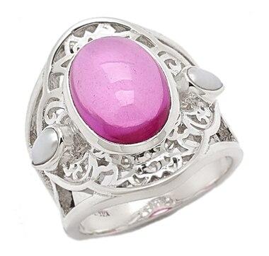 Himalayan Gems Sterling Silver Multi Gemstone Palace Window Ring