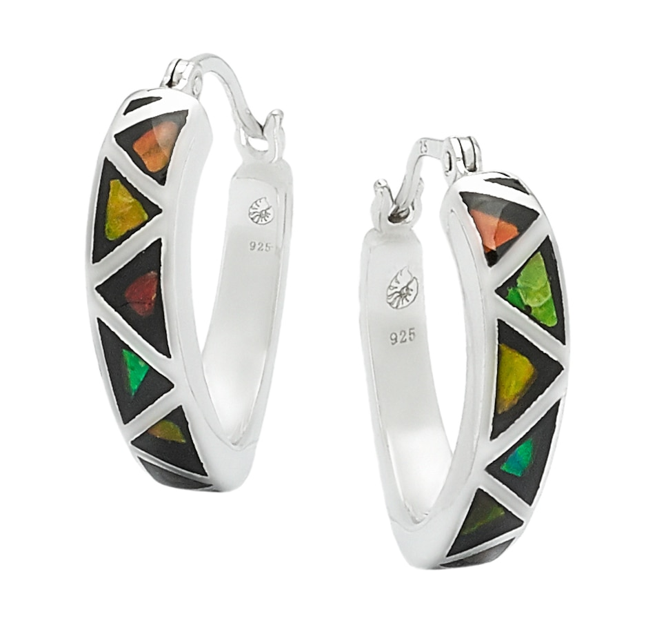 Image 545227.jpg , Product 545-227 / Price $204.99 , Korite Ammolite Sterling Silver Mosaic Ammolite Earrings from Korite Ammolite on TSC.ca's Jewellery department