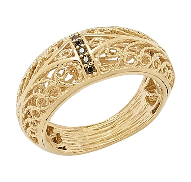 Jewellery of The Grand Bazaar Black Spinel Filigree Band