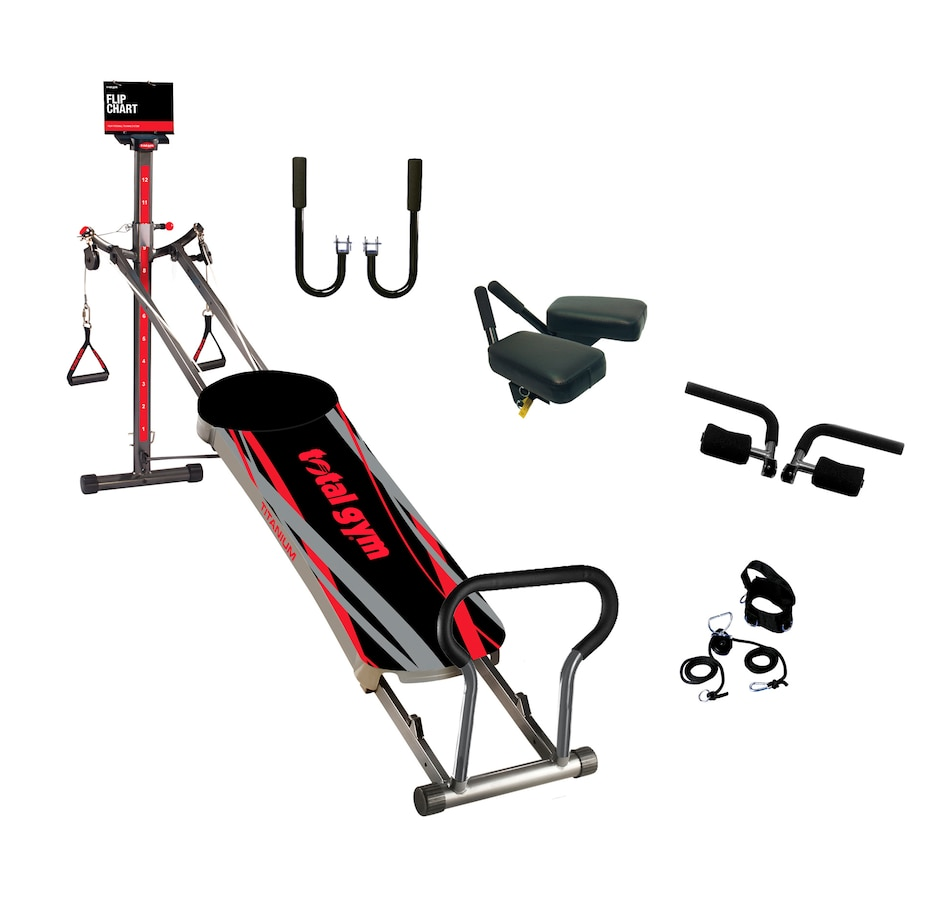 Image 547219.jpg , Product 547-219 / Price $699.99 , Total Gym Titanium Bundle with 4 DVDs and Exercise Flip Chart from Total Gym on TSC.ca's Health & Fitness department