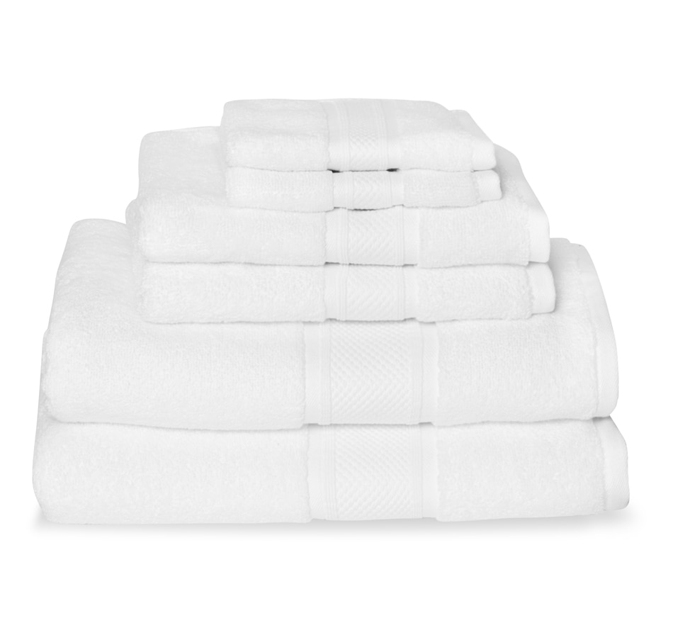 Image 547418_WHT.jpg , Product 547-418 / Price $89.99 , Charles the Butler Fieldcrest Zero Twist Extra Long Staple 6-Piece Towel Set from Fieldcrest Luxury on TSC.ca's Home & Garden department