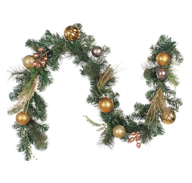 Holiday Memories 6' Decorated Glittered Mix Pine Garland
