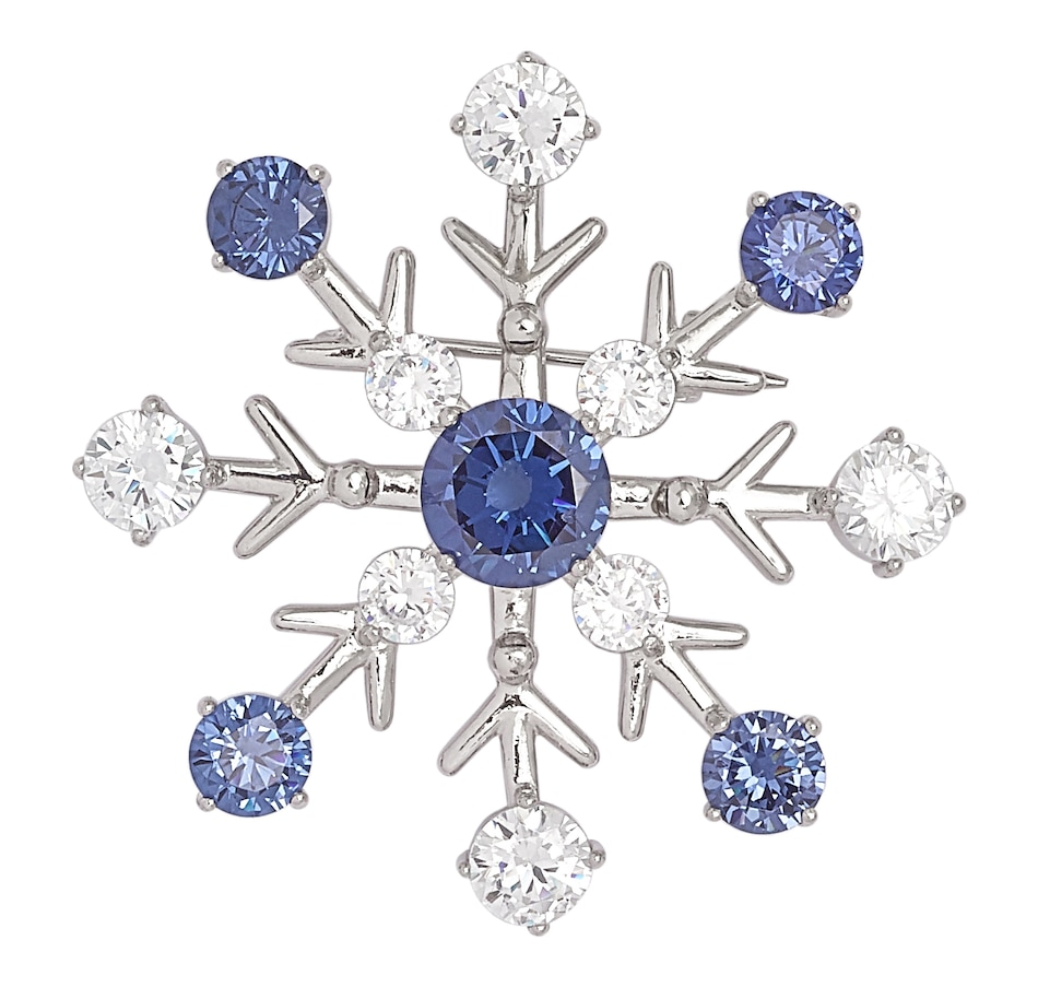 cubic productdetails buy pages price zirconia silver pin image white product snowflake illusions tanzanite sterling brooches plate rhodium