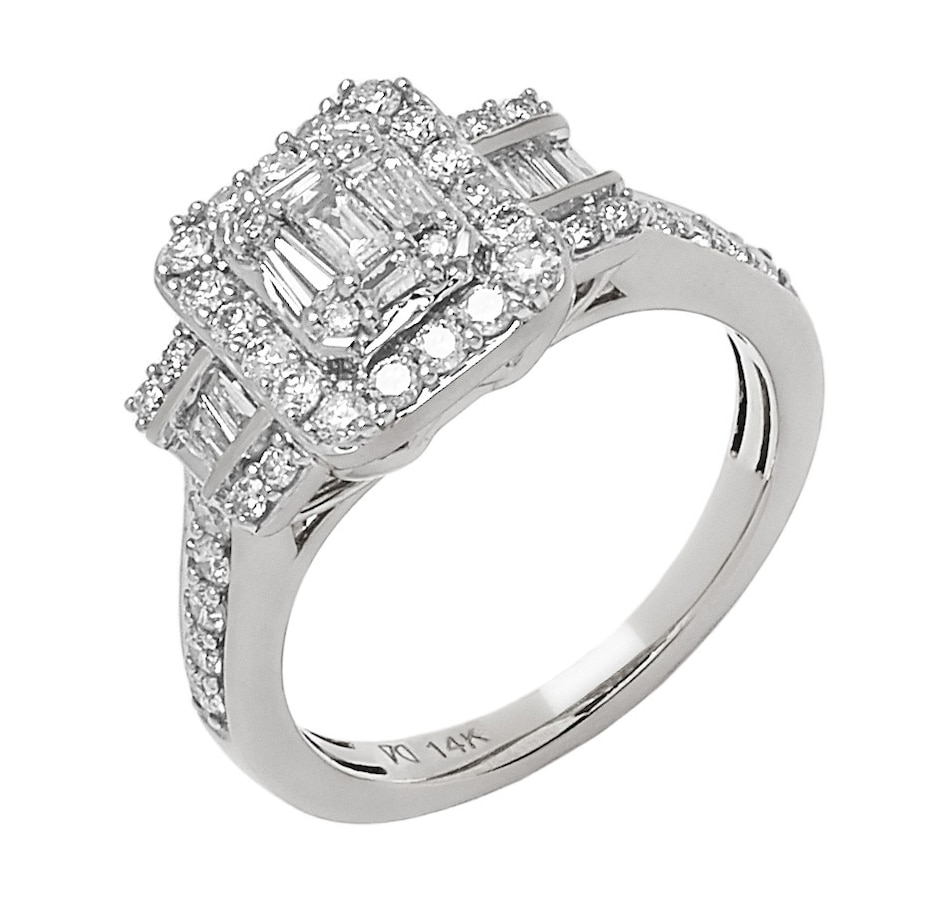 Image 548047_WGL.jpg , Product 548-047 / Price $1,377.99 , 14K Gold Diamond Baguette Wonder Holiday Ring from Gem Finds on TSC.ca's Jewellery department