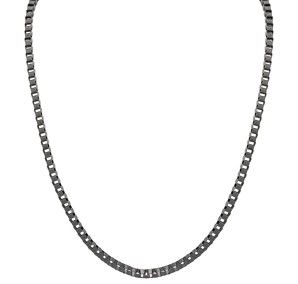 Image 548273_BLK.jpg , Product 548-273 / Price $19.33 , Emma Skye Men's Stainless Steel Black IP Box Link Necklace from Emma Skye Jewelry on TSC.ca's Jewellery department