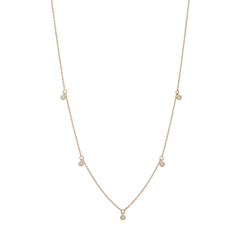 Image 548970_YGL.jpg , Product 548-970 / Price $649.99 , 14K Gold Round Diamond Charm Necklace from Diamond Show on TSC.ca's Jewellery department