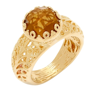 Jewellery Of The Grand Bazaar 10mm Rose Cut Center Stone Ring