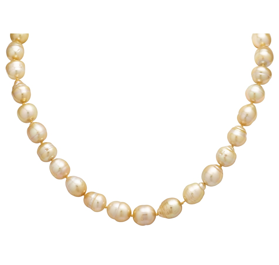 400bf867abd57 Imperial Pearl 14K Yellow Gold 10-11mm Golden South Sea Pearl Necklace