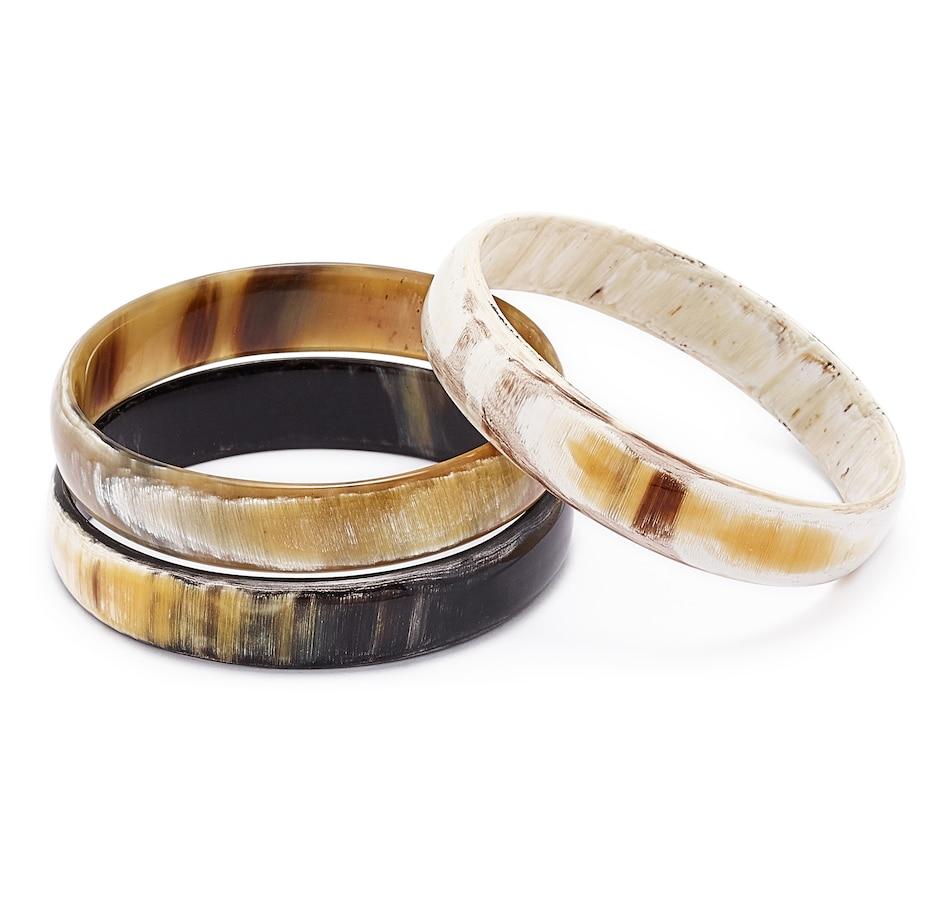 Image 549191.jpg , Product 549-191 / Price $59.88 , Vivo Jewellery Buffalo Horn Set of 3 Bangles from VIVO on TSC.ca's Jewellery department