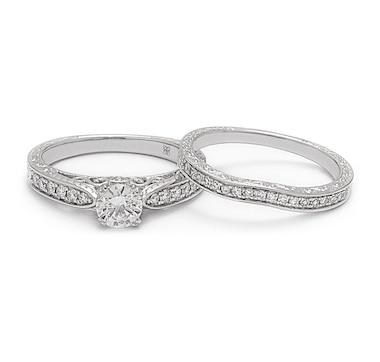éthique 14K White Gold Diamond Ring & Band Set