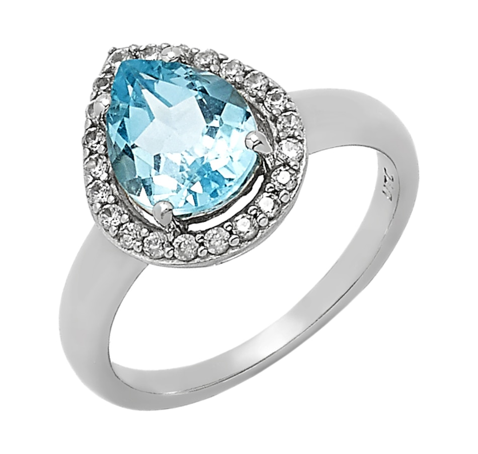 Image 549676_BTP.jpg , Product 549-676 / Price $119.99 , Sterling Silver Pear Shape Gemstone & White Zircon Ring from The Vault on TSC.ca's Jewellery department