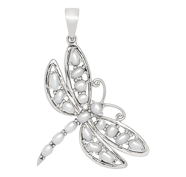 Himalayan Gems Sterling Silver Jewelled Wing Pendant Collection