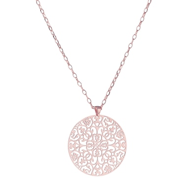 "Belrose Jewellery Scroll Pendant with 36"" Chain"