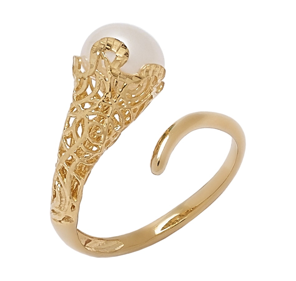 Image 549930_PRL.jpg , Product 549-930 / Price $449.99 , Stefano Oro 14K Yellow Gold Center Stone Bypass Ring from Stefano Oro on TSC.ca's Jewellery department