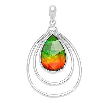 Jewellery pendants online shopping for canadians product 550 106 price 24999 korite ammolite sterling silver teardrop ammolite pendant from aloadofball Gallery