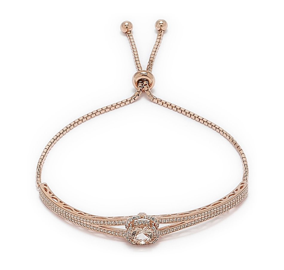 Image 550319_MORG.jpg , Product 550-319 / Price $66.33 , Gem Illusions Sterling Silver Simulated Gemstone and Cubic Zirconia Adjustable Bracelet from Tanzanite Illusions on TSC.ca's Jewellery department