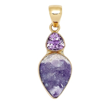 Alchemia by Charles Albert Amethyst and Tiffany Stone Pendant