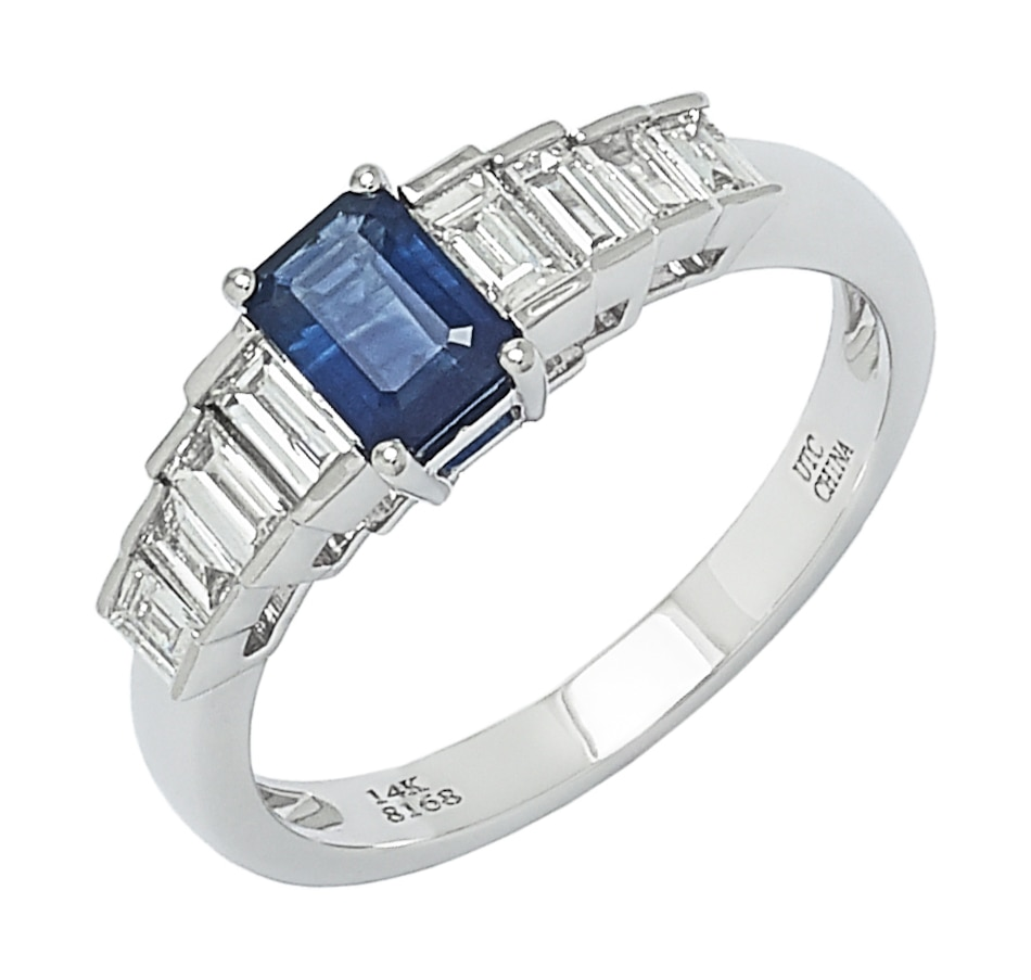 Image 551027.jpg , Product 551-027 / Price $1,632.99 , Graziela Fine Jewellery 14K White Gold Blue Sapphire & Diamond Ring from Graziela Fine Jewellery on TSC.ca's Jewellery department