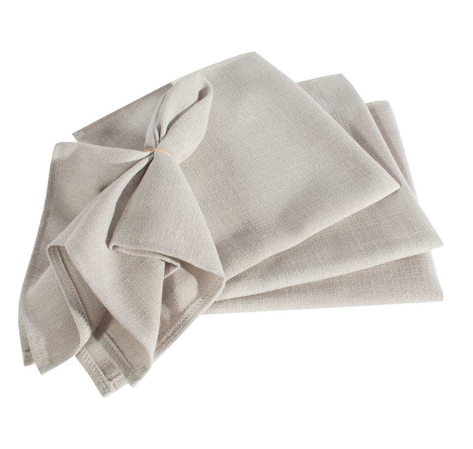 Image 551550_GRY.jpg , Product 551-550 / Price $37.33 , Expressions - Cloth Napkins (4-Pack) from Charles The Butler on TSC.ca's Kitchen department